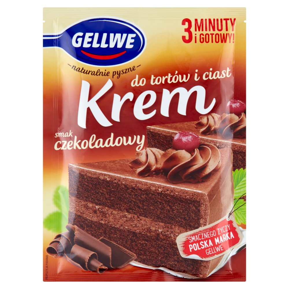 Gellwe Krem do ciast i tortów czekoladowy smak 140g