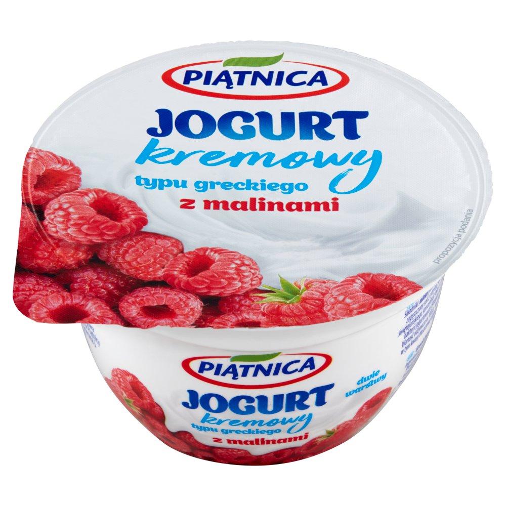 Piątnica Jogurt kremowy typu greckiego z malinami 150g