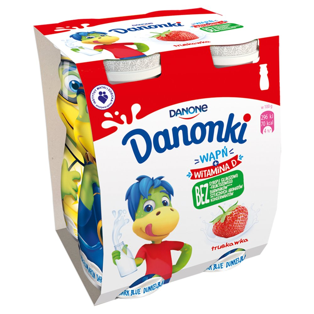 Danone Danonki Jogurt truskawka 400g (4x100g)