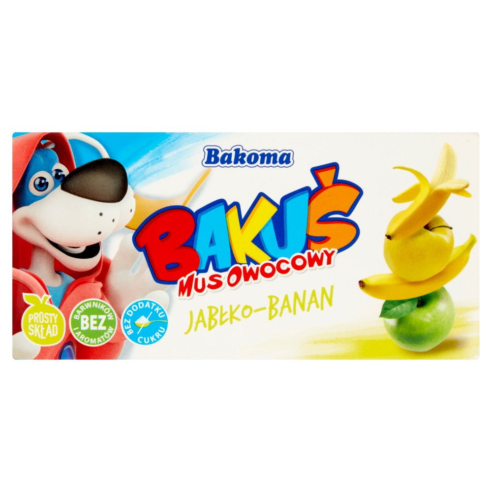 Bakoma Bakuś Mus owocowy jabłko-banan 200g (2szt) (2)