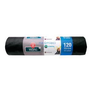 WM Worki na śmieci z taśmą ściągającą 120l (10 sztuk) (2)