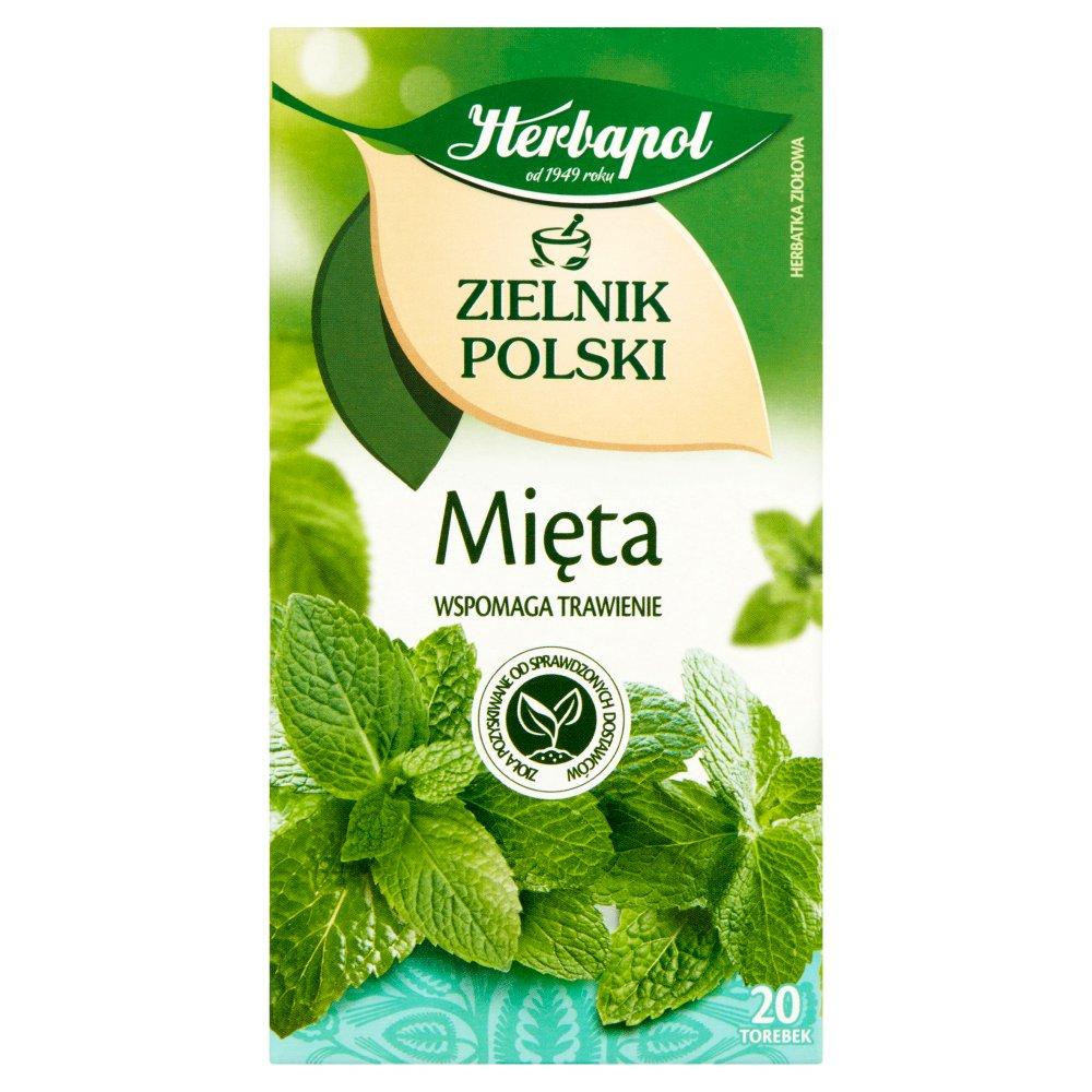 Herbapol Zielnik Polski Herbatka ziołowa mięta 40g (20 tb) (2)