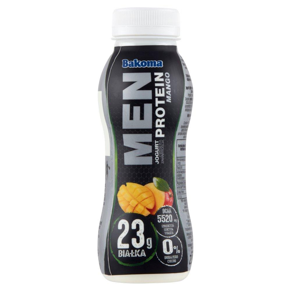 Bakoma Men Pro Jogurt mango z wysoką zawartością białka 230g