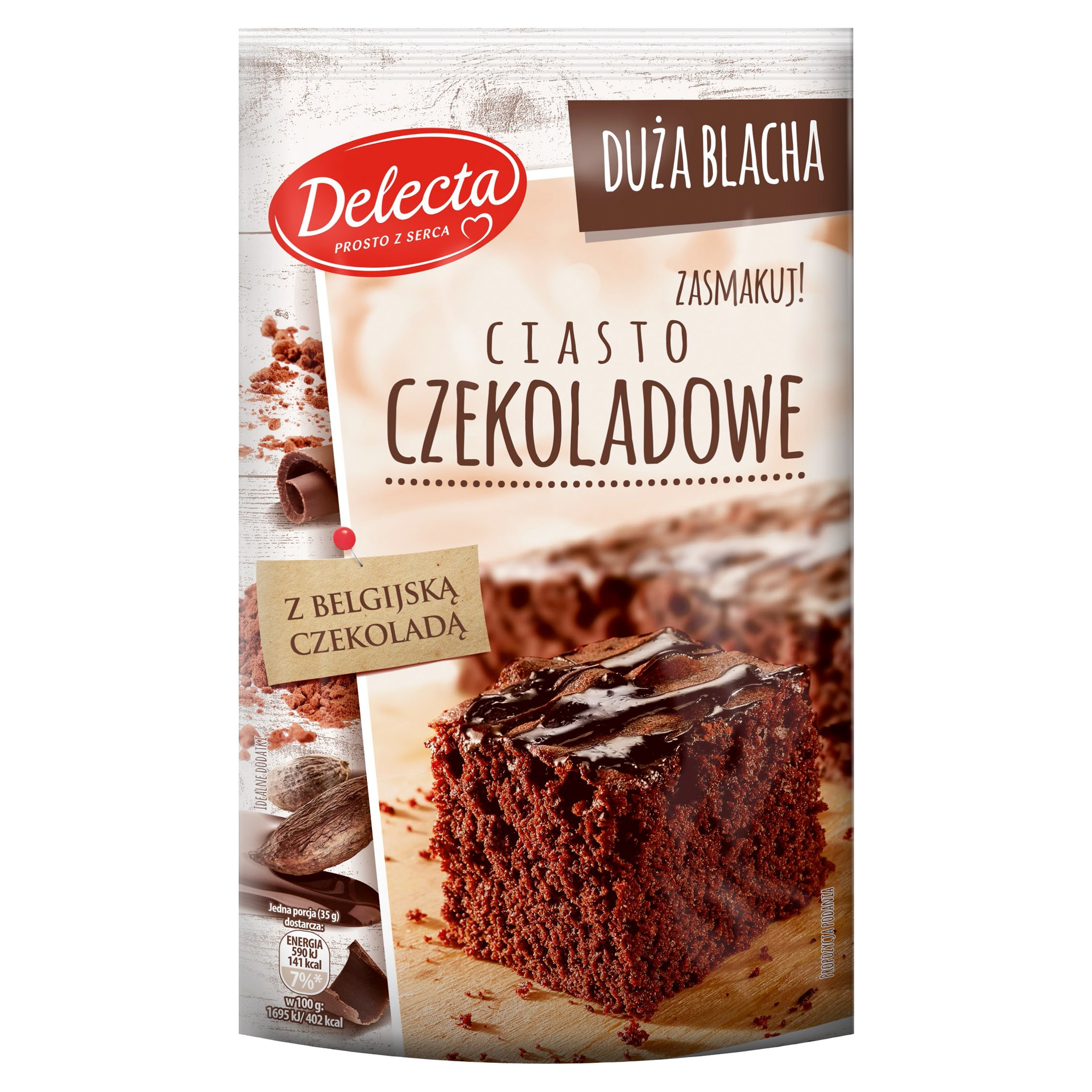 Delecta Duża Blacha Ciasto czekoladowe 670g (2)