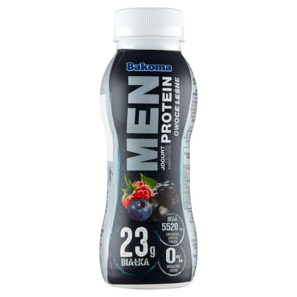 Bakoma Men Pro Jogurt owoce leśne z wysoką zawartością białka 230g (1)