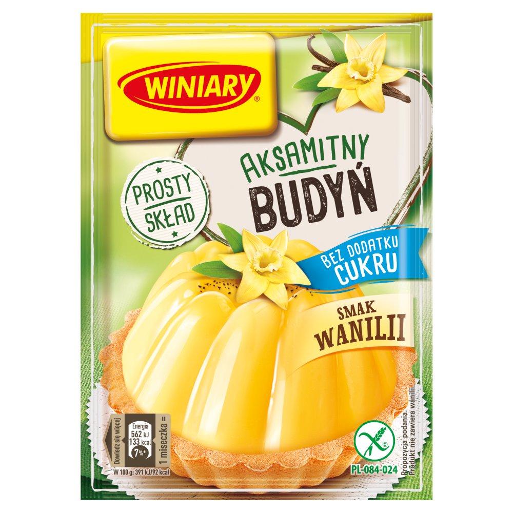 Winiary Budyń bez dodatku cukru smak waniliowy 35g (2)