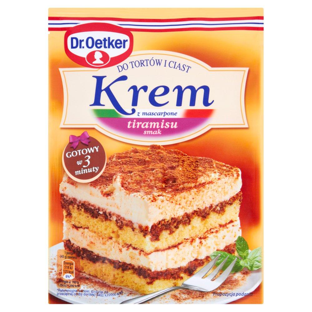 Dr. Oetker Krem do tortów i ciast z mascarpone smak tiramisu 122g (2)