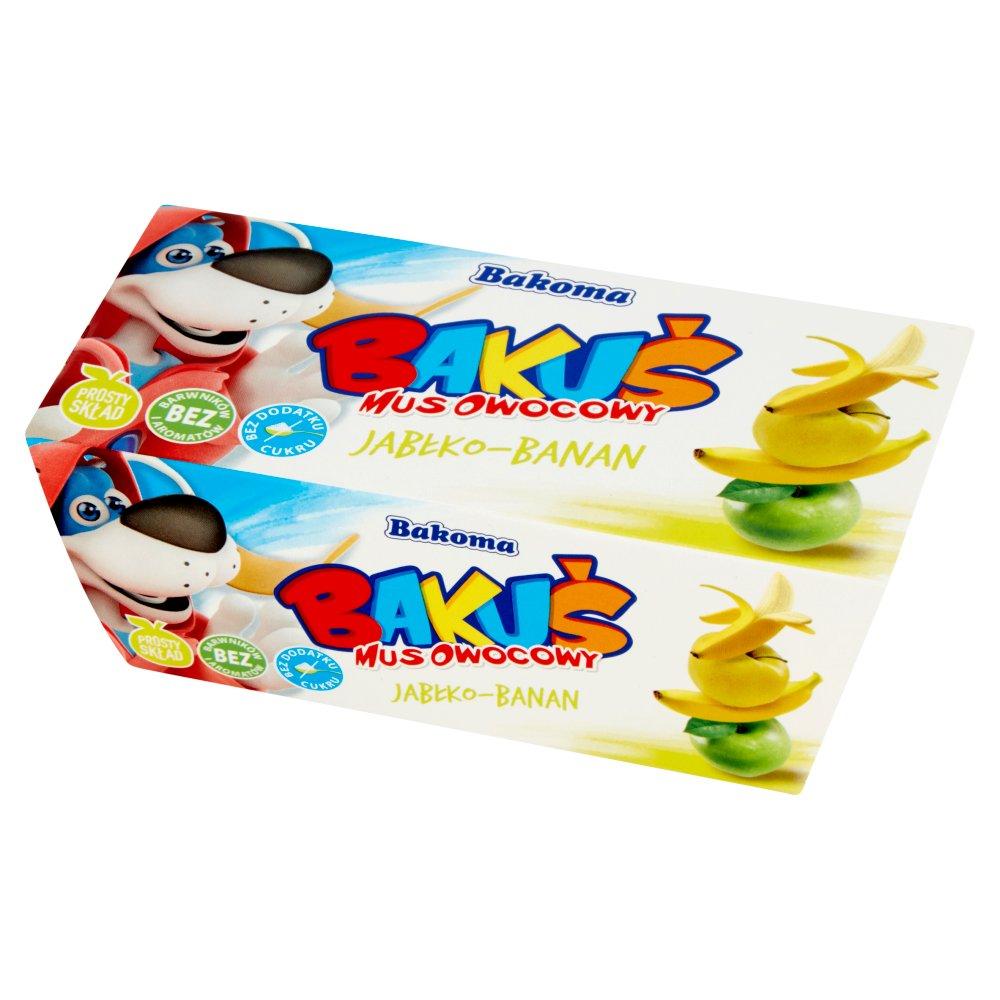 Bakoma Bakuś Mus owocowy jabłko-banan 200g (2szt) (1)