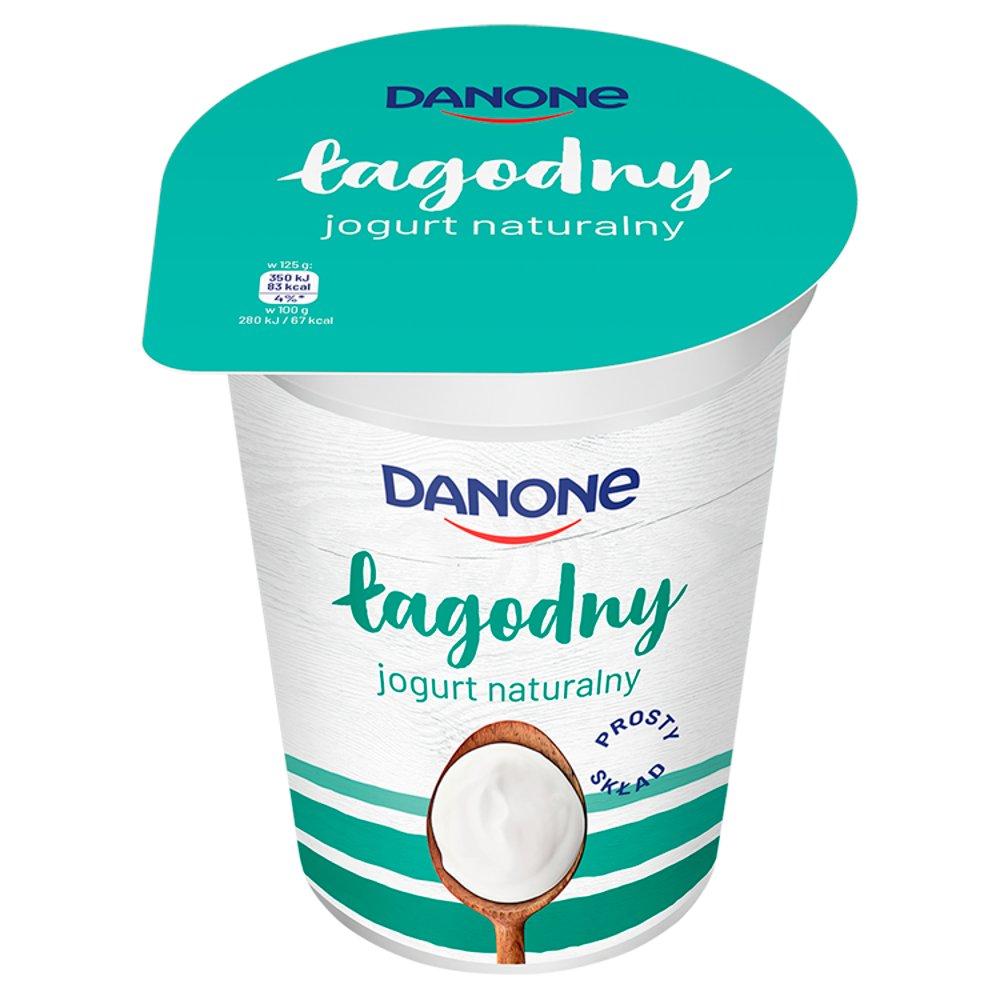 Danone łagodny Jogurt naturalny 370g