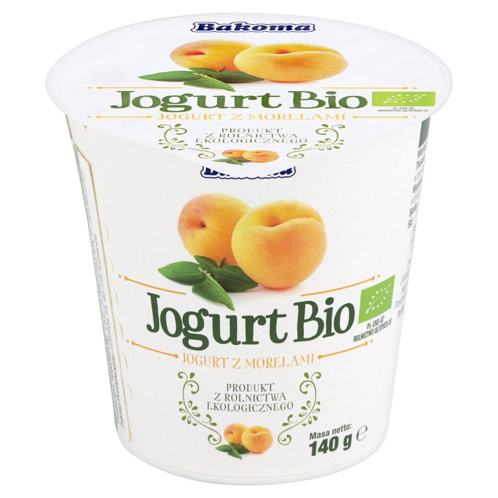 Bakoma Jogurt Bio z morelami 140g