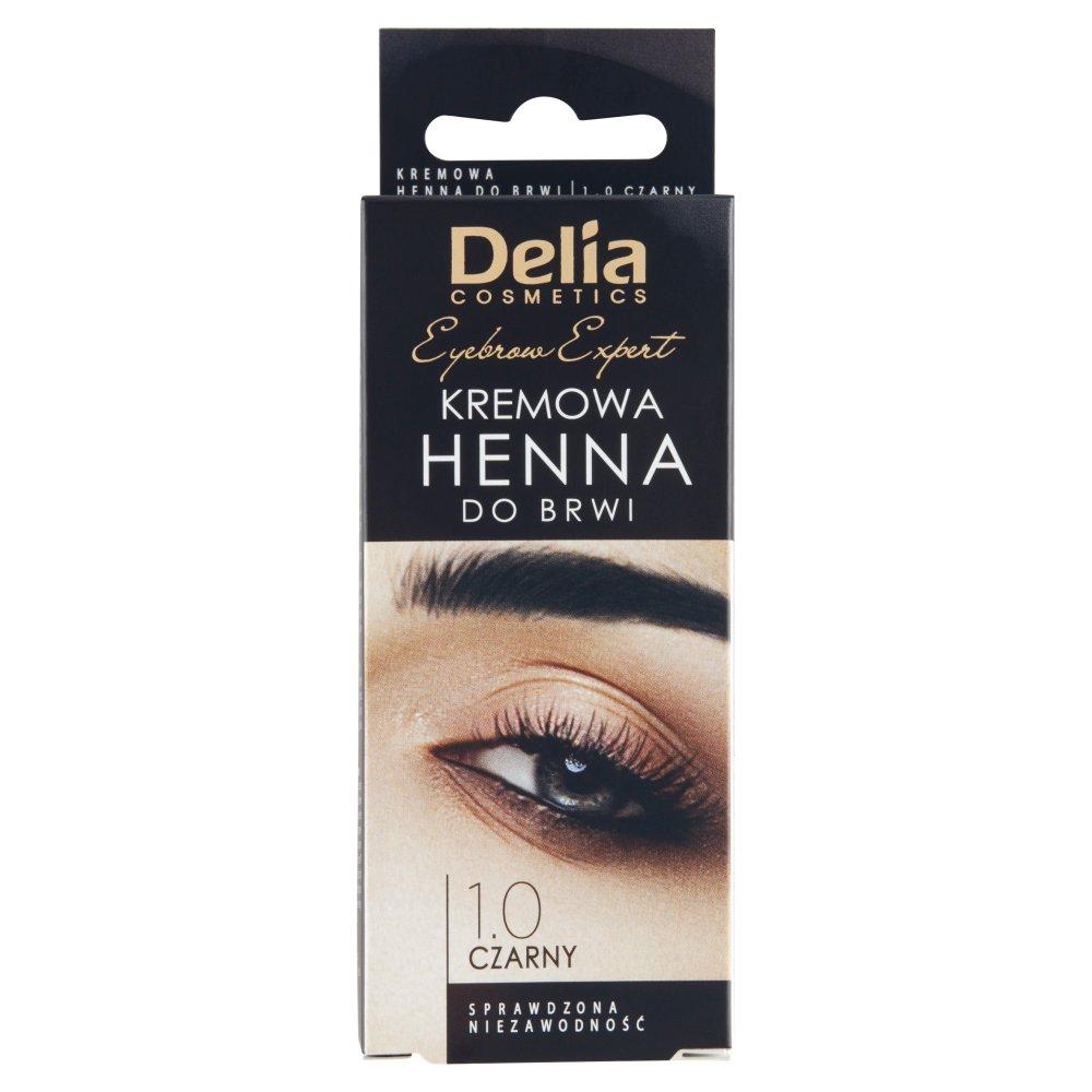 Delia Cosmetics Eyebrow Expert Kremowa henna do brwi 1.0 czarny (2)
