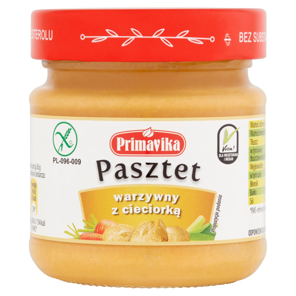 Primavika Pasztet warzywny z cieciorką 160g (2)