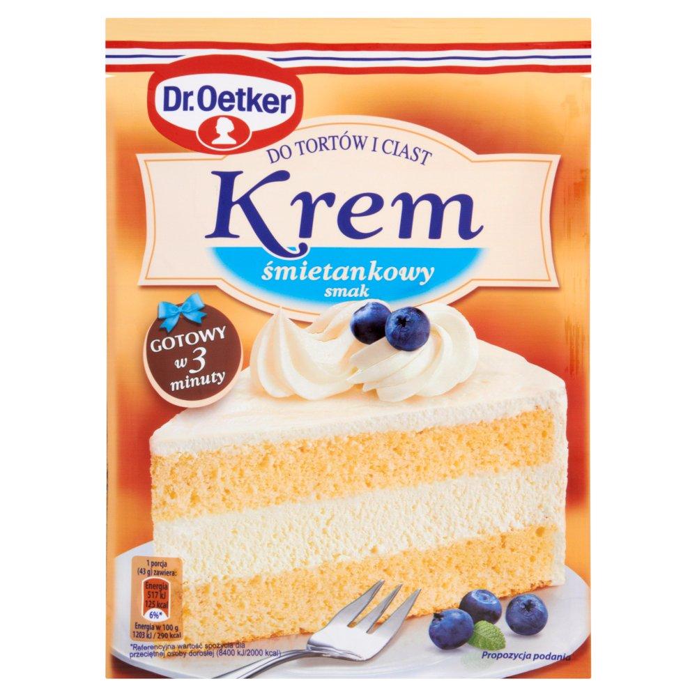 Dr. Oetker Krem do tortów i ciast smak śmietankowy 120g (2)