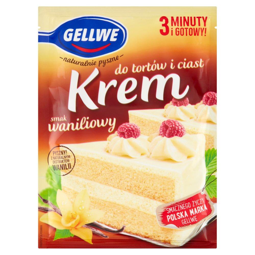 Gellwe Krem do ciast i tortów waniliowy smak 120g