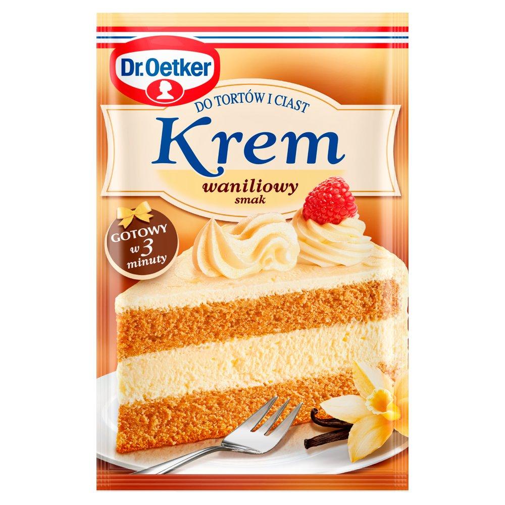 Dr. Oetker Krem do tortów i ciast smak waniliowy 120g (1)