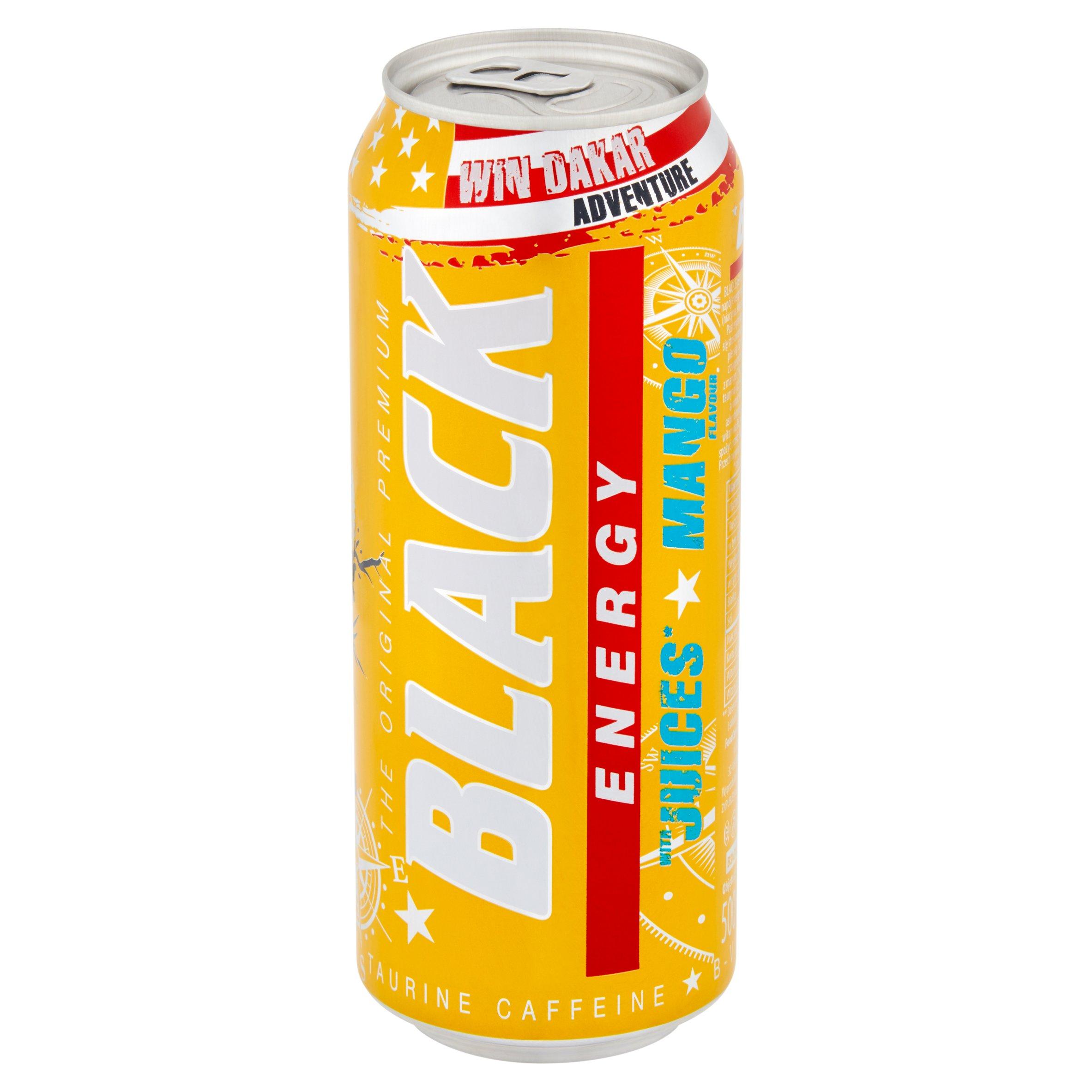 Black Energy Gazowany napój energetyzujący o smaku mango 500ml (3)