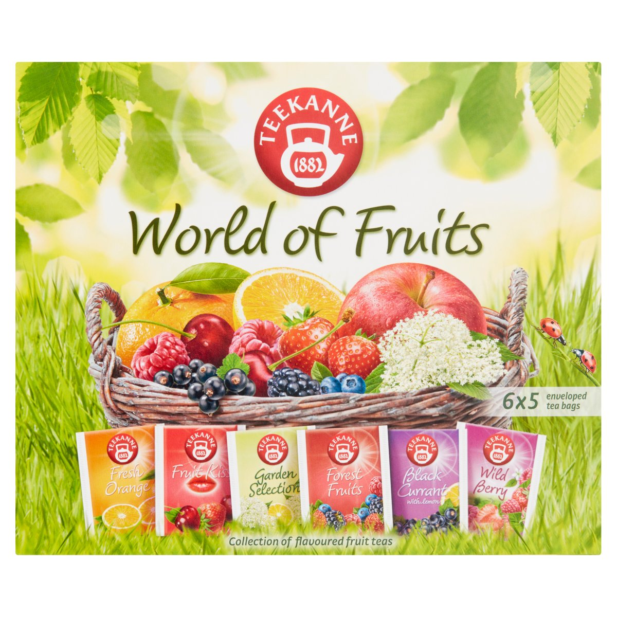 Teekanne World of Fruits Aromatyzowana mieszanka herbatek owocowych 70g (6x5tor) (2)