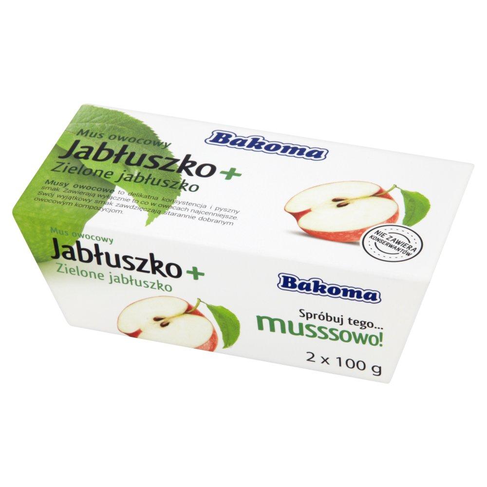 Bakoma Mus owocowy Jabłuszko + Zielone jabłuszko 200g (2szt) (1)