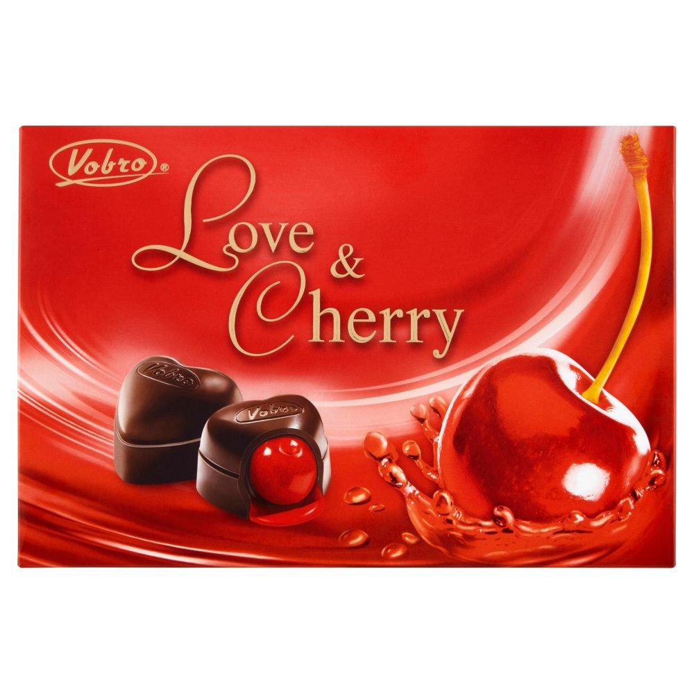 VOBRO Love & Cherry Bombonierka świąteczna Czekoladki z wiśnią w alkoholu (3)