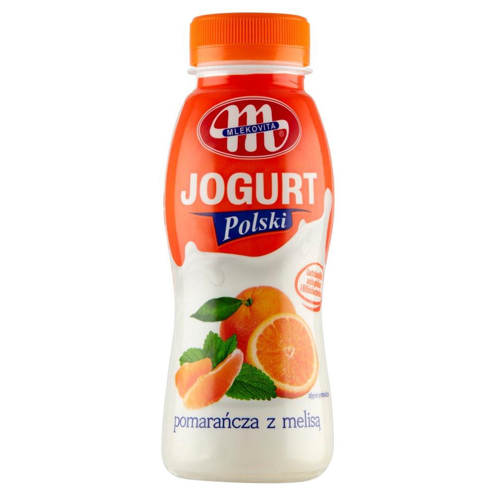 Mlekovita Jogurt Polski pitny pomarańcza z melisą 250g