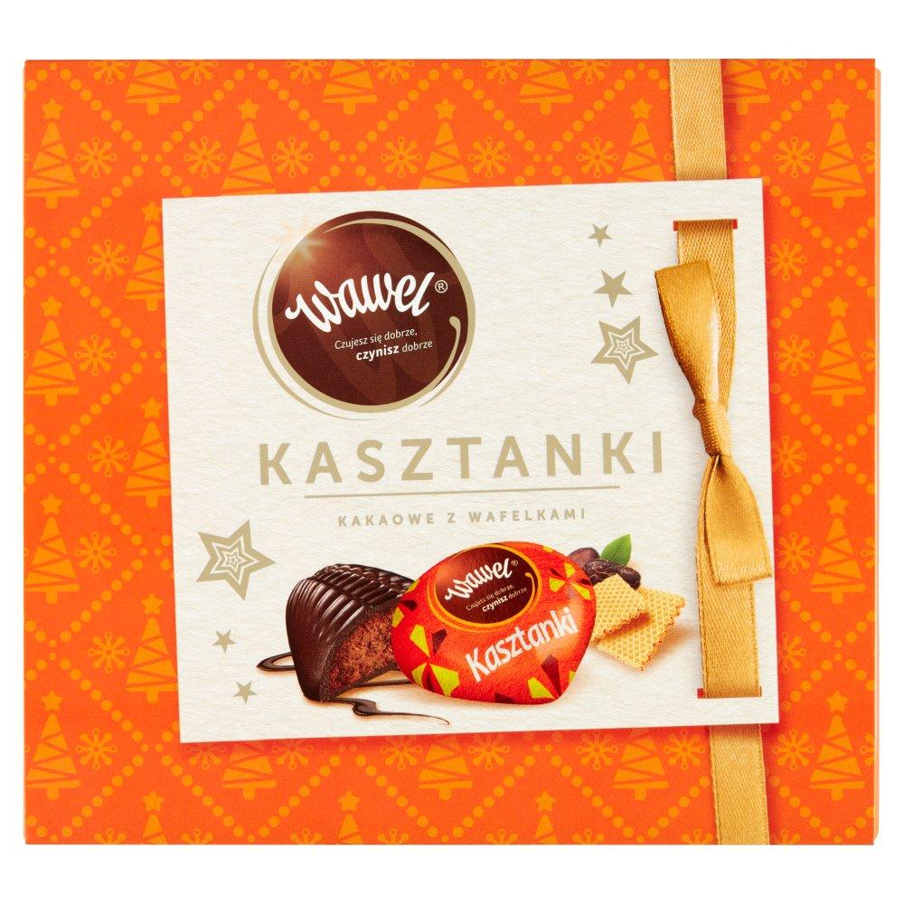 Wawel Kasztanki kakaowe z wafelkami Czekoladki nadziewane 430g (2)
