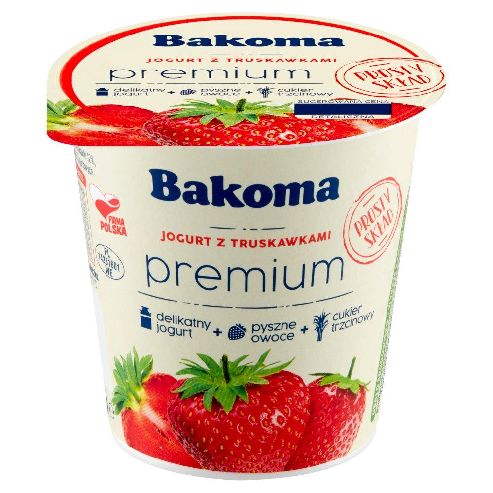 BAKOMA Premium Gold Jogurt z truskawkami