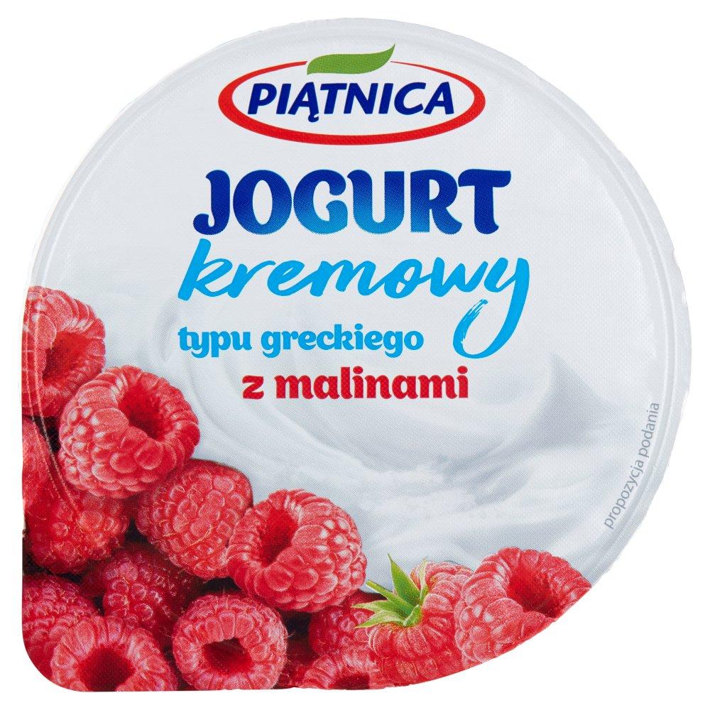 Piątnica Jogurt kremowy typu greckiego z malinami 150g (2)