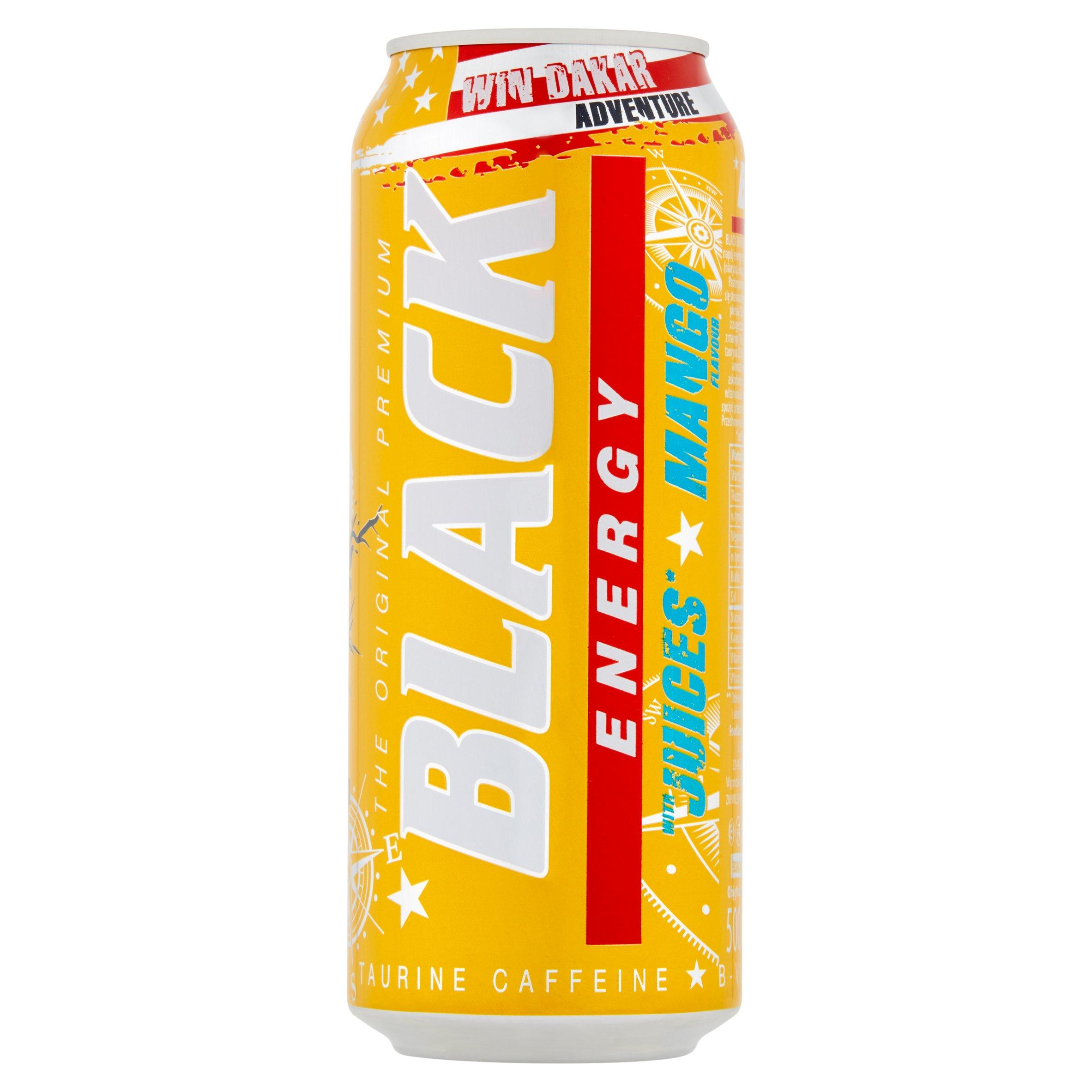Black Energy Gazowany napój energetyzujący o smaku mango 500ml (4)