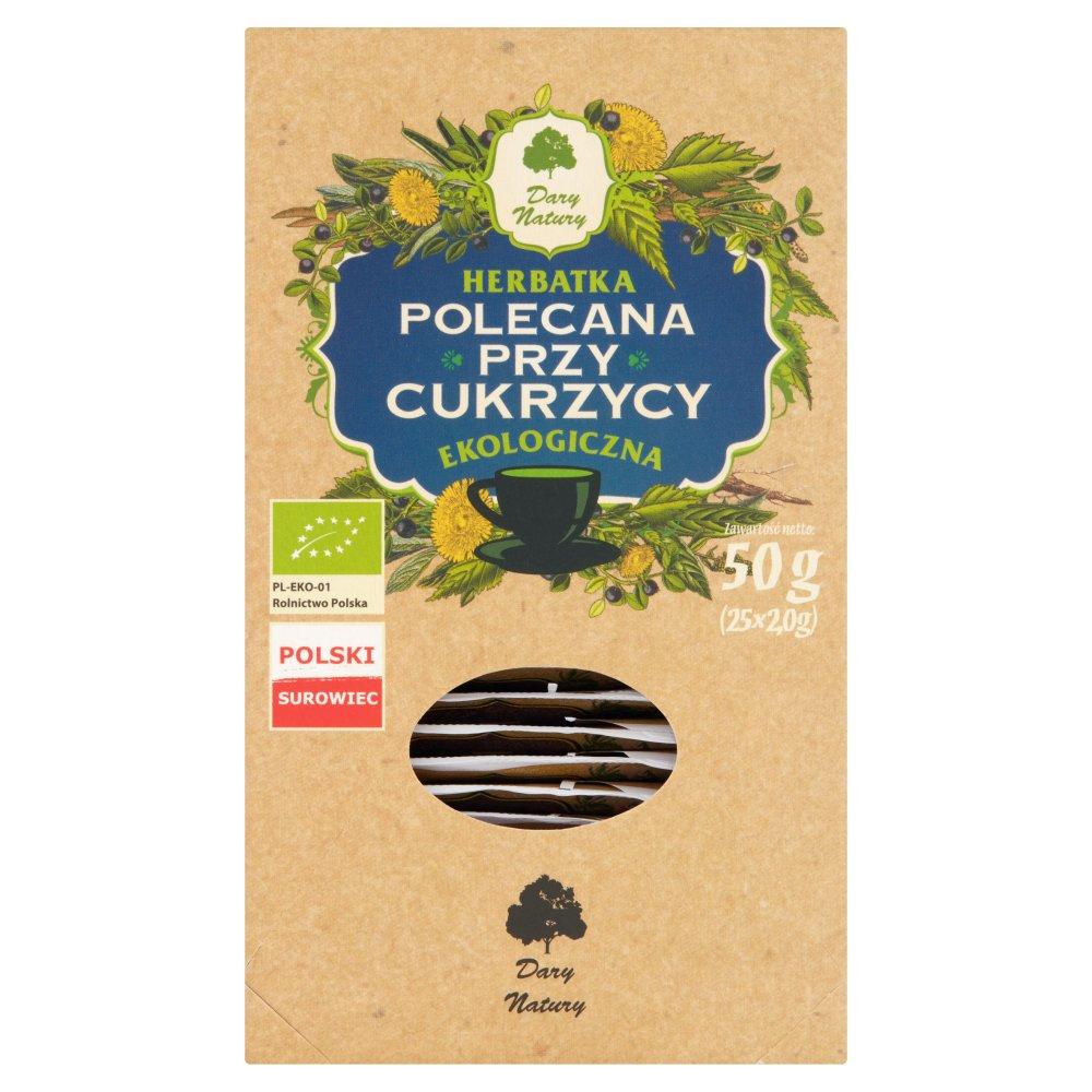 Dary Natury Ekologiczna herbatka polecana przy cukrzycy 50g (25x2g) (2)