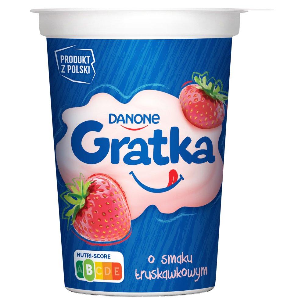 Danone Gratka Deser o smaku truskawkowym 290g
