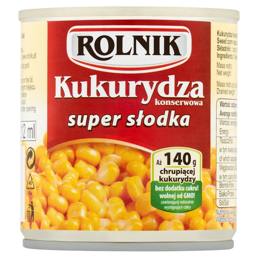 Rolnik Kukurydza konserwowa super słodka 150 g (2)