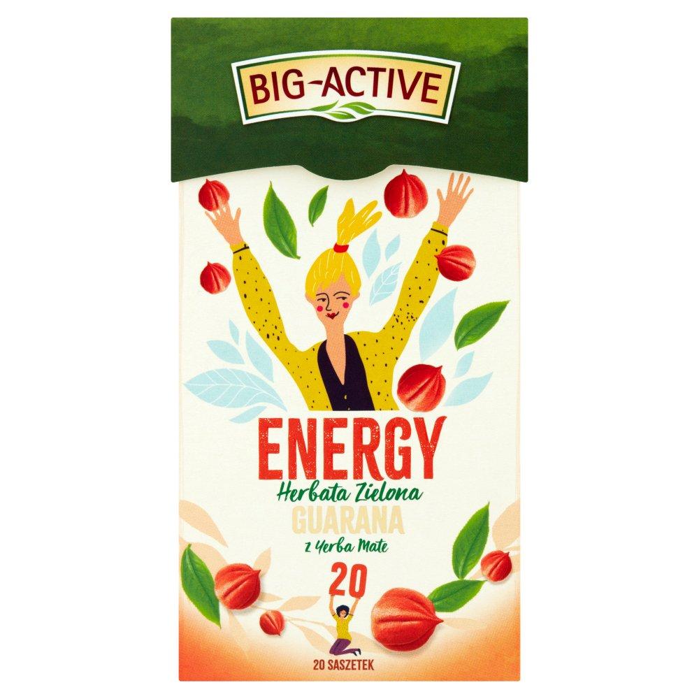 Big-Active Energy Herbata zielona guarana z yerba mate 30 g (20 x 1,5 g) (2)