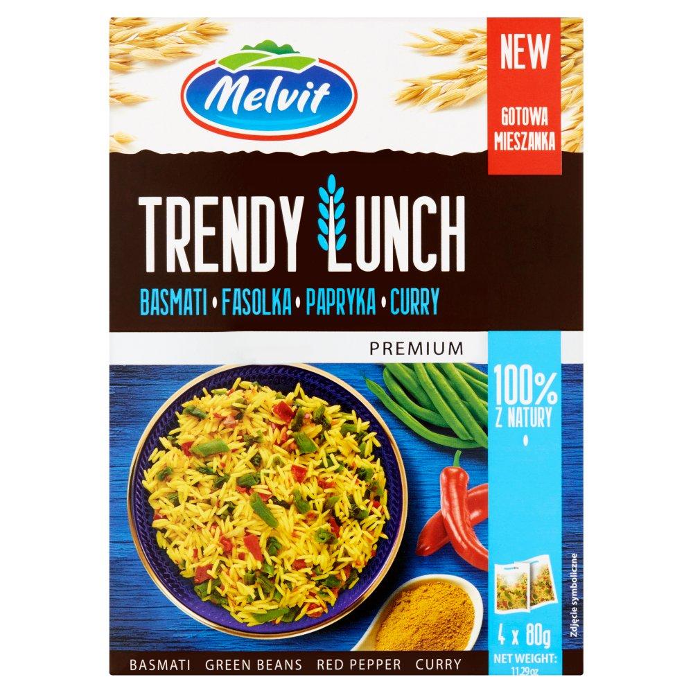 Melvit Premium Trendy Lunch basmati fasolka papryka curry 320 g (4 x 80 g) (2)