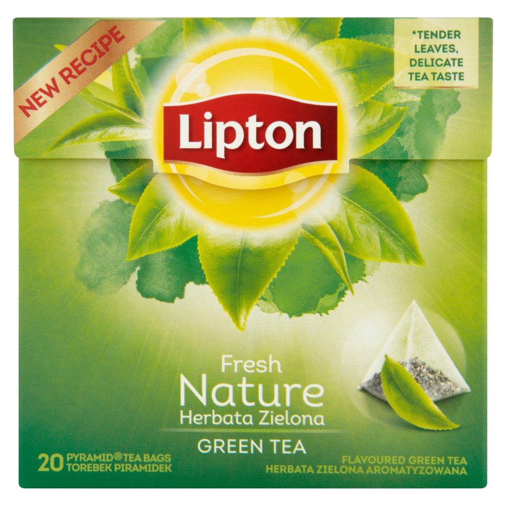 Lipton Fresh Nature Herbata zielona aromatyzowana 28 g (20 torebek) (2)