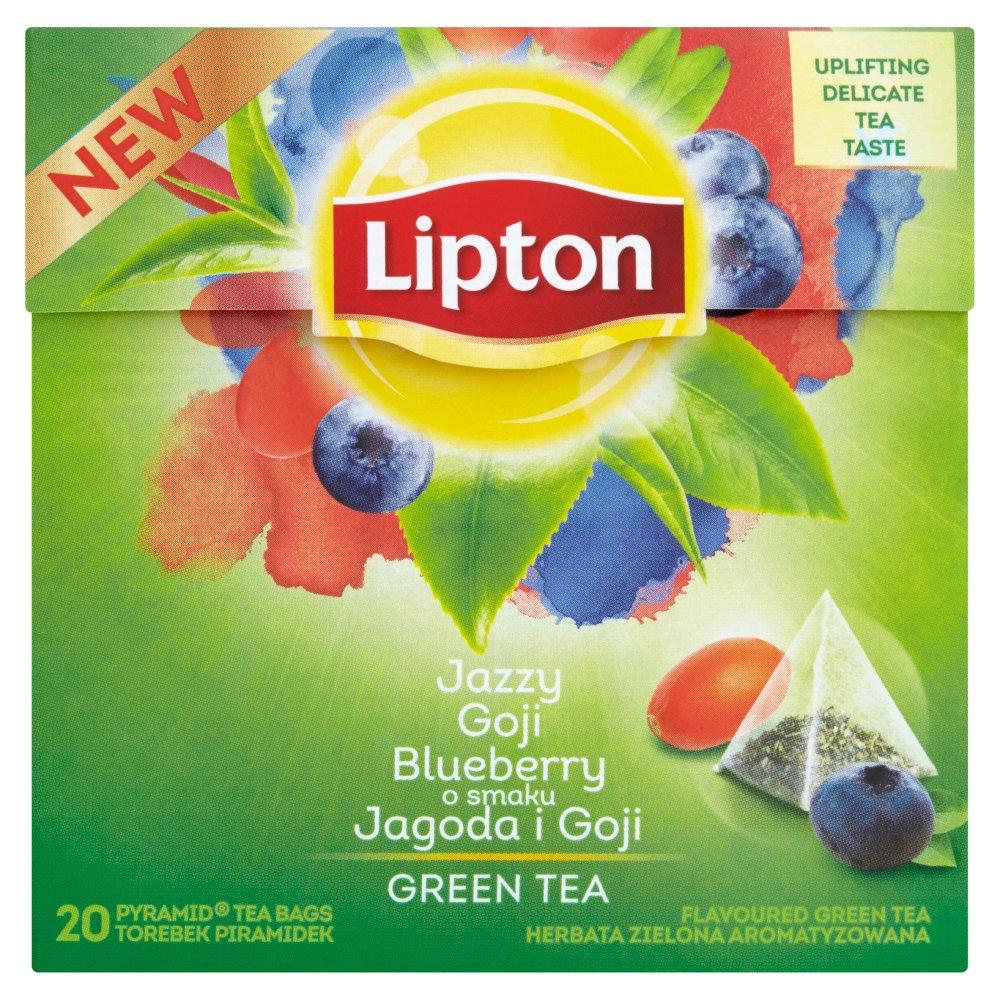 Lipton o smaku Jagoda i Goji Herbata zielona aromatyzowana 28 g (20 torebek) (2)