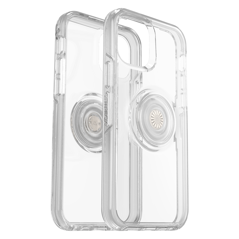 OtterBox Symmetry Pop Etui Ochronne z PopSockets do iPhone 12 Pro / iPhone 12 (Clear)