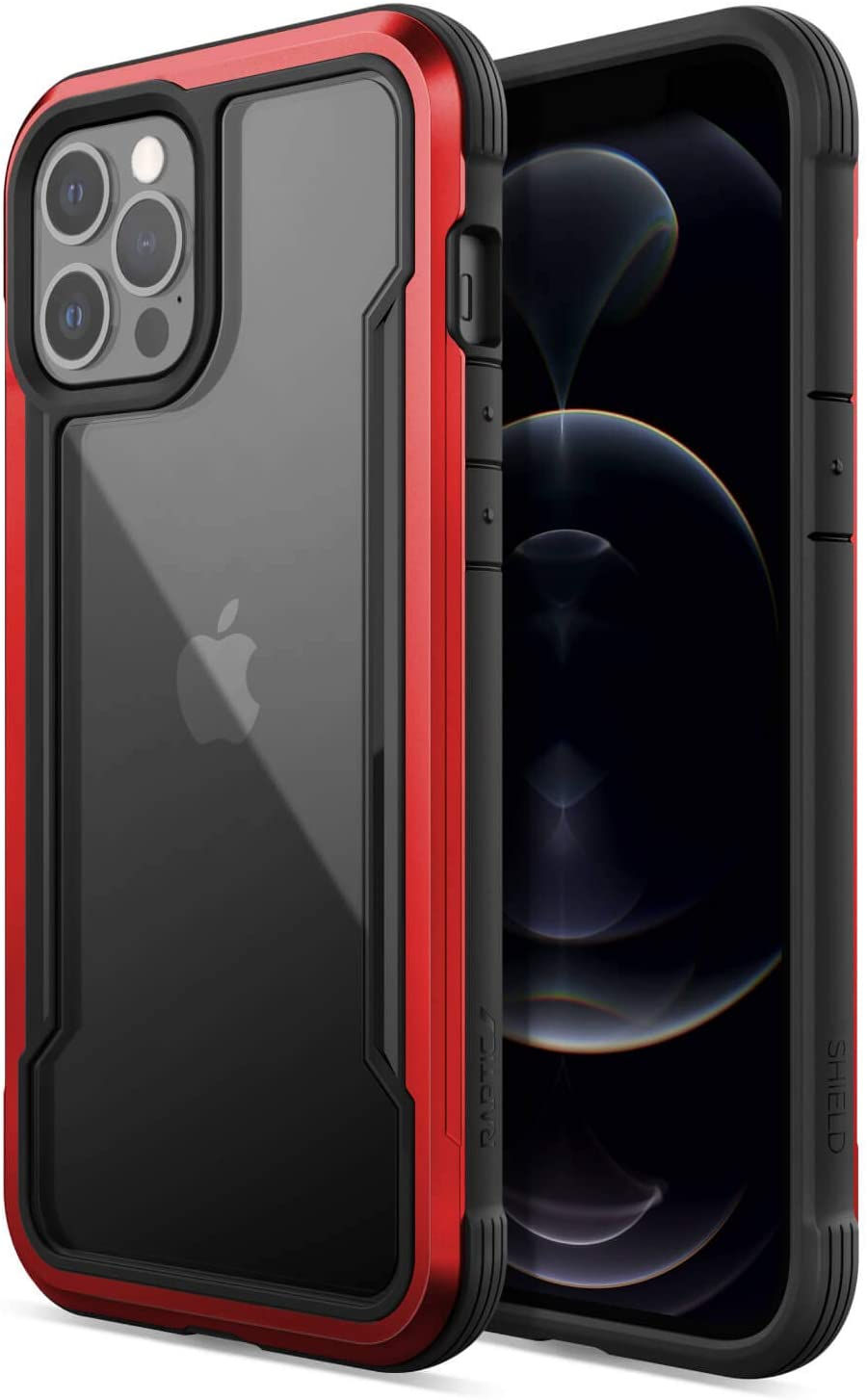 Raptic Shield Etui Aluminiowe do iPhone 12 Pro Max (Drop Test 3m) (Red)