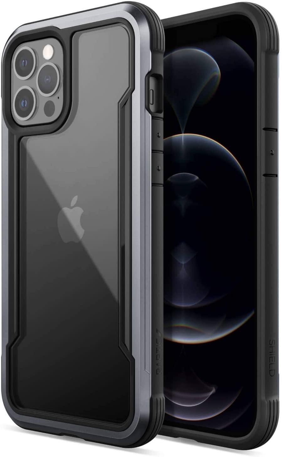 Raptic Shield Etui Aluminiowe do iPhone 12 Pro Max (Drop Test 3m) (Black)