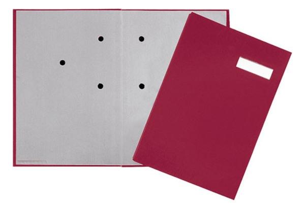 8b22c322ab1d49 Teczka do podpisu DURABLE, 20-częściowa, kolor czerwony, okładka z tworzywa,