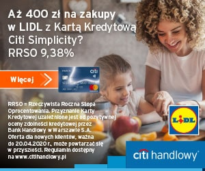 citi - karta kredytowa z bonem do Decathlon
