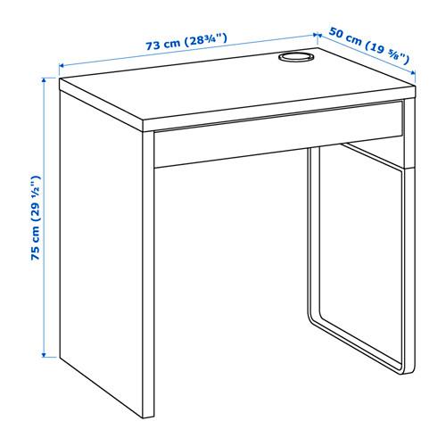 ikea micke computertisch pc schreibtisch b rotisch b ro tisch 2 farben ebay. Black Bedroom Furniture Sets. Home Design Ideas