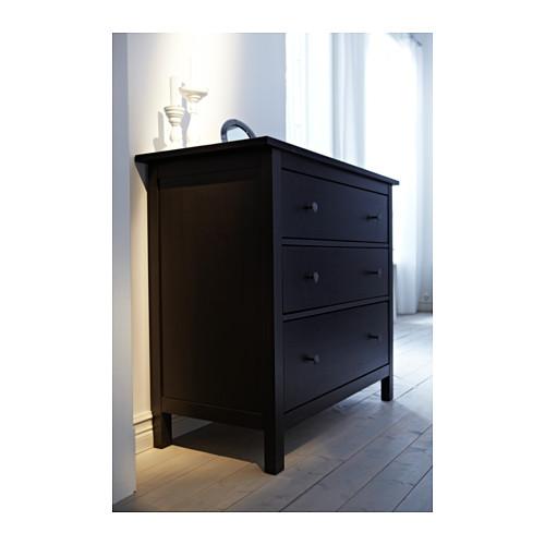 Kommode ikea hemnes  IKEA HEMNES Chest of 3 drawers in 4 Colors , Bedroom Storage. | eBay