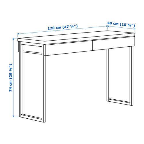 ikea besta burs schreibtisch in hochglanz weiss 120x40cm buerotisch ikea besta ebay. Black Bedroom Furniture Sets. Home Design Ideas