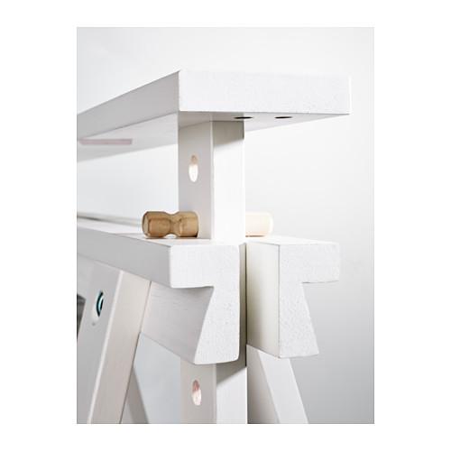 2x ikea finnvard tischbock mit ablage in 2 farben tisch gestell bein fu ebay. Black Bedroom Furniture Sets. Home Design Ideas