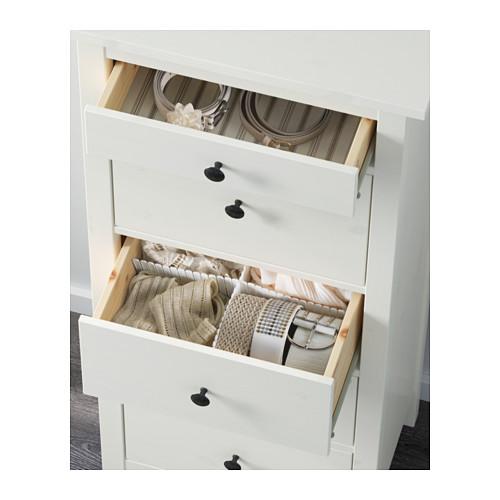 Ikea Hemnes Kommode Mit 5 Schubladen In 2 Farben Aus Massivholz