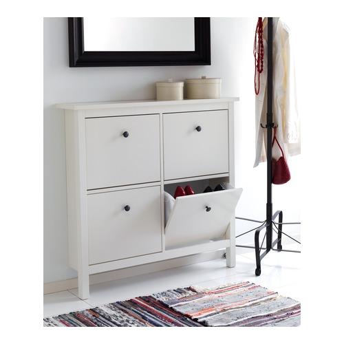 IKEA HEMNES Shoe cabinet with 4 compartments  sc 1 st  eBay & IKEA HEMNES Shoe cabinet with 4 compartments Shoe storage | eBay