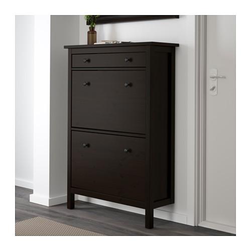 a45309e857 IKEA HEMNES Shoe cabinet with 2 compartments, Shoe storage | eBay