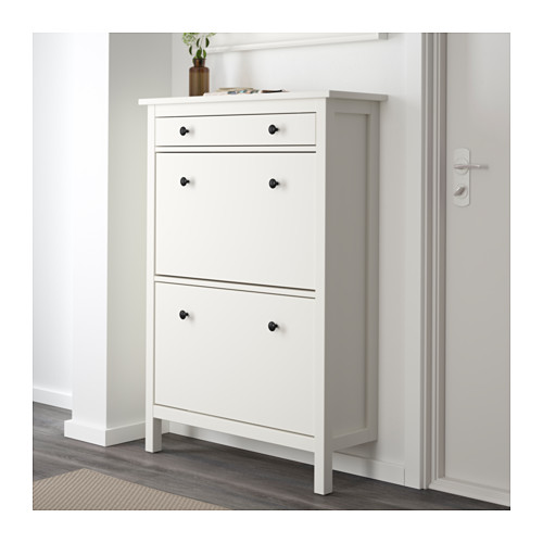 ikea hemnes schuhschrank 2fach in 2 farben 89x127cm ebay. Black Bedroom Furniture Sets. Home Design Ideas