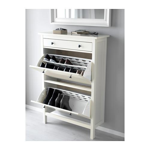 ikea hemnes schuhschrank 2fach in 2 farben 89x127cm ebay. Black Bedroom Furniture Sets. Home Design Ideas