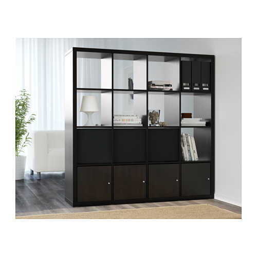 ikea kallax regal b cherregal wandregal raumteiler schwarzbraun ebay. Black Bedroom Furniture Sets. Home Design Ideas